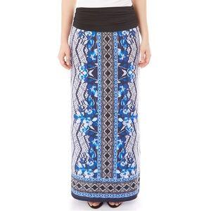 Apt 9 Print Column Maxi Skirt